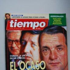 Coleccionismo de Revista Tiempo: REVISTA TIEMPO.NUM.656-AÑO 1994: OCASO DE LOS DIOSES-JULIO ANGUITA, APOYARIA A AZNAR-ANDROPAUSIA. Lote 48672873