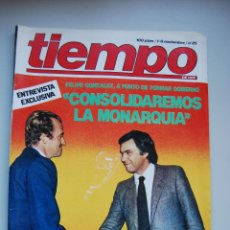 Coleccionismo de Revista Tiempo: REVISTA TIEMPO.NUM. 25 -AÑO 1982: ENTREVISTA EXCLUSIVA A FELIPE GONZALEZ-ELECCIONES, RESULTADOS . Lote 49037814