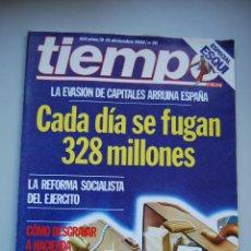 Coleccionismo de Revista Tiempo: REVISTA TIEMPO.NUM. 30 -AÑO 1982: CADA DIA SE FUGAN 328 MILLONES-REFORMA SOCIALISTA DEL EJERCITO. Lote 191883253