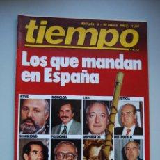 Coleccionismo de Revista Tiempo: REVISTA TIEMPO.NUM. 34 -AÑO 1983 : LOS QUE MANDAN EN ESPAÑA-ASESINATOS EN LA FRONTERA-P0LICIA. Lote 191883187