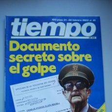 Coleccionismo de Revista Tiempo: REVISTA TIEMPO.NUM. 41 -AÑO 1983 : DOCUMENTOS SECRETOS SOBRE EL GOLPE-PRESIDENTE DE ISRAEL. Lote 48695276