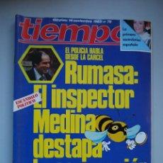 Coleccionismo de Revista Tiempo: REVISTA TIEMPO.NUM. 79 -AÑO 1983 :MEDINA DESTAPA LA CORRUPCION-SACERDOTISA ESPAÑOLA-RUIZ MATEOS. Lote 48695743
