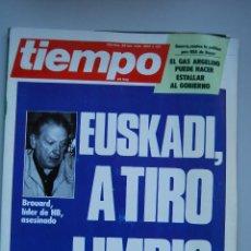 Coleccionismo de Revista Tiempo: REVISTA TIEMPO.NUM. 133 -AÑO 1984 : EUSKADI, A TIRO LIMPIO-GAS ARGELINO-RUIZ MATEOS-GUERRA-BOYER. Lote 48698744