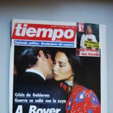 Collectionnisme de Magazine Tiempo: REVISTA TIEMPO.NUM. 166 -AÑO 1985 : CRISIS DE GOBIERNO.A BOYER LE TOCO LA CHINA-ESPIONAJE POLITICO. Lote 48698915