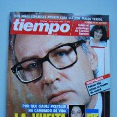 Coleccionismo de Revista Tiempo: REVISTA TIEMPO.NUM. 314-AÑO 1988 : VUELVE MIGUEL BOYER-NIÑOS ESPAÑOLES, MALOS TRATOS-CARMEN ROMERO. Lote 48709576