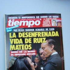 Collectionnisme de Magazine Tiempo: REVISTA TIEMPO.NUM. 399-AÑO 1989 : DESENFRENADA VIDA DE RUIZ MATEOS-PRINCIPE FELIPE ISABEL SARTORIUS. Lote 48710107