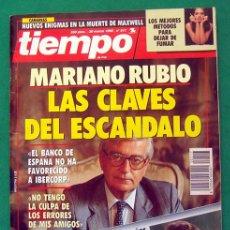 Coleccionismo de Revista Tiempo: REVISTA TIEMPO DE HOY . NUMERO 517 . 30 MARZO 1992 . MARIANO RUBIO : LAS CLAVES DEL ESCANDALO. Lote 48810346