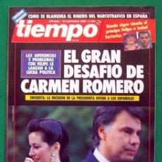 Coleccionismo de Revista Tiempo: REVISTA TIEMPO DE HOY . NUMERO 385 . 18 SEPTIEMBRE 1989 . EL GRAN DESAFIO DE CARMEN ROMERO. Lote 48810565