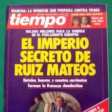 Coleccionismo de Revista Tiempo: REVISTA TIEMPO DE HOY . NUMERO 373 . 26 JUNIO 1989 . EL IMPERIO SECRETO DE RUIZ MATEOS. Lote 48810649