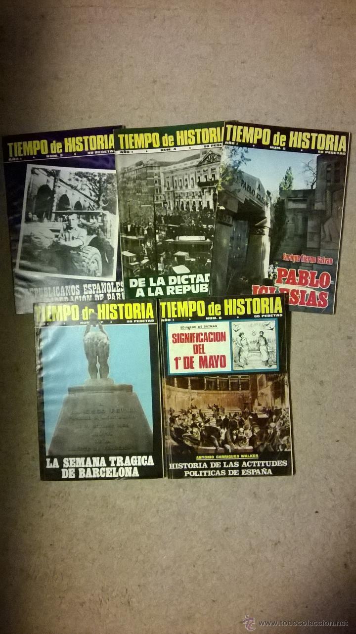 TIEMPO DE HISTORIA - LOTE 5 REVISTAS - Nº 3/4/5/6 Y 7 - AÑO 1975 (Coleccionismo - Revistas y Periódicos Modernos (a partir de 1.940) - Revista Tiempo)