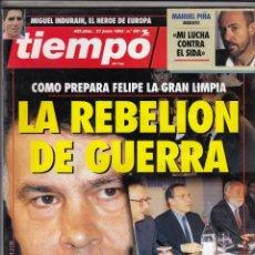 Coleccionismo de Revista Tiempo: REVISTA TIEMPO Nº 581 AÑO 1993. MARIA BENEGAS. JOAQUIN ALMUNIA. ELIA YANES. MARGAUX HEMINGWAY. CONDE. Lote 54950248
