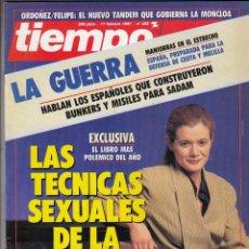 Coleccionismo de Revista Tiempo: REVISTA TIEMPO Nº 458 AÑO 1991. DOCTORA OCHOA. JOAQUIN LEGUNA. JULIIO IGLESIAS. PENELOPE CRUZ. . Lote 54979322