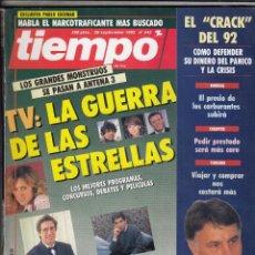 Collectionnisme de Magazine Tiempo: REVISTA TIEMPO Nº 543 AÑO 1992. TV,. GUERRA DE ESTRELLAS. PASTORA VEGA. ALFONSO ARUS. PABLO CASTELLA. Lote 55009607