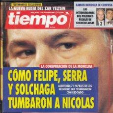 Coleccionismo de Revista Tiempo: REVISTA TIEMPO Nº 598 AÑO 1993. CONSPIRACION DE LA MONCLOA. CHAVELA BARGAS. NIEVES HERREO. YELTSIN. Lote 55010433