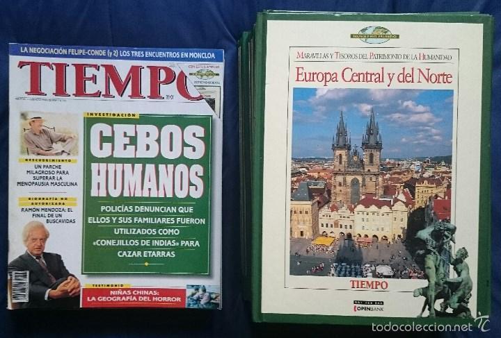 TIEMPO: 15 TOMOS MARAVILLAS DEL PATRIMONIO DE LA HUMANIDAD + 11 REVISTAS OCTUBRE 1995 A ENERO 1996 (Coleccionismo - Revistas y Periódicos Modernos (a partir de 1.940) - Revista Tiempo)