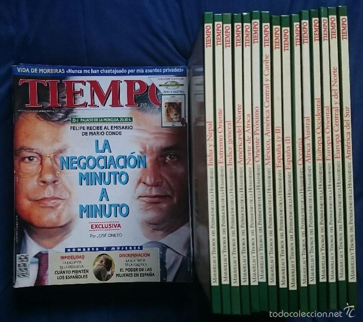 Coleccionismo de Revista Tiempo: Tiempo: 15 Tomos Maravillas del Patrimonio de la Humanidad + 11 revistas octubre 1995 a enero 1996 - Foto 2 - 56160129