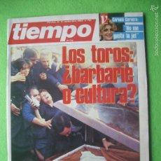 Coleccionismo de Revista Tiempo: REVISTA TIEMPO Nº 174. LOS TOROS BARBARIE O CULTURA? RUIZ MATEOS , CARMEN CERVERA. Lote 56285573