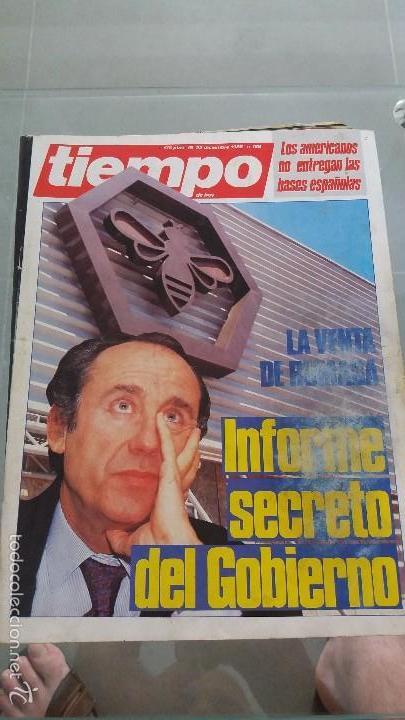 REVISTA TIEMPO DE HOY AÑO 1985 N° 188 PORTADA LA VENTA DE RUMASA (Coleccionismo - Revistas y Periódicos Modernos (a partir de 1.940) - Revista Tiempo)