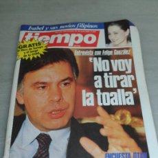 Coleccionismo de Revista Tiempo: REVISTA TIEMPO Nº 200, AÑO 1986, ENTREVISTA CON FELIPE GONZALEZ NO VOY A TIRAR LA TOALLA ENCUESTA OT. Lote 57998195