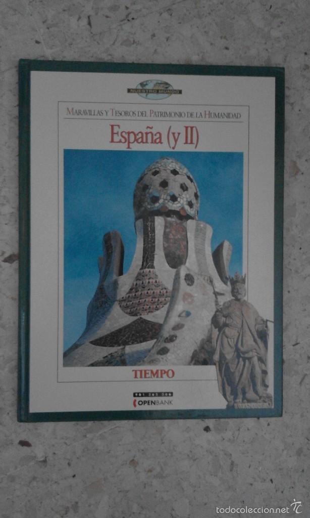 LIBRO GUIA MARAVILLAS Y TESOROS DEL PATRIMONIO DE LA HUMANIDAD ESPAÑA Y II REVISTA TIEMPO (Coleccionismo - Revistas y Periódicos Modernos (a partir de 1.940) - Revista Tiempo)