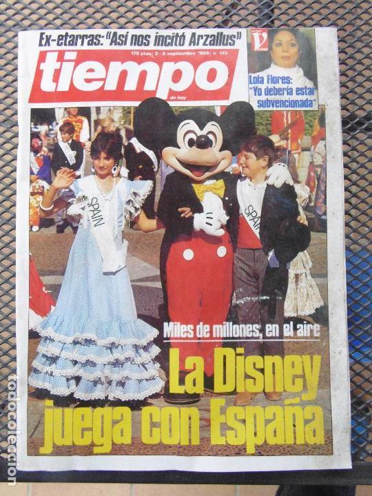REVISTA TIEMPO.NUM. 173 -AÑO 1985 : LA DISNEY JUEGA CON ESPAÑA- EX ETARRAS-ARZALLUS (Coleccionismo - Revistas y Periódicos Modernos (a partir de 1.940) - Revista Tiempo)