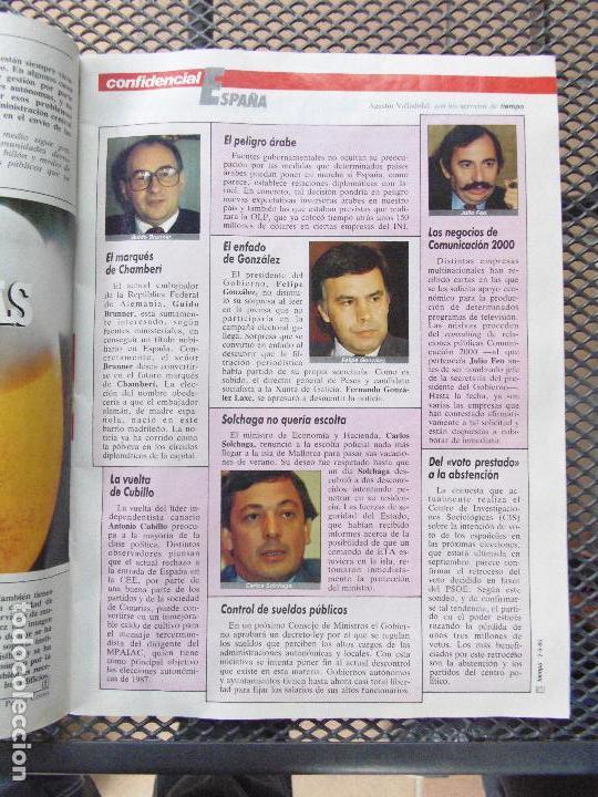 Coleccionismo de Revista Tiempo: REVISTA TIEMPO.NUM. 173 -AÑO 1985 : LA DISNEY JUEGA CON ESPAÑA- EX ETARRAS-ARZALLUS - Foto 3 - 62763700