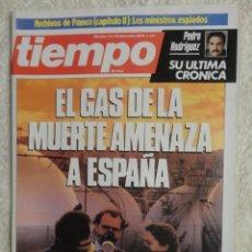 Coleccionismo de Revista Tiempo: REVISTA TIEMPO Nº 137 ,1984 - TXIKI BENEGAS -GAS DE LA MUERTE -OTAN -PENSIONES -PATXI ANDION-ILEGALE. Lote 67135489