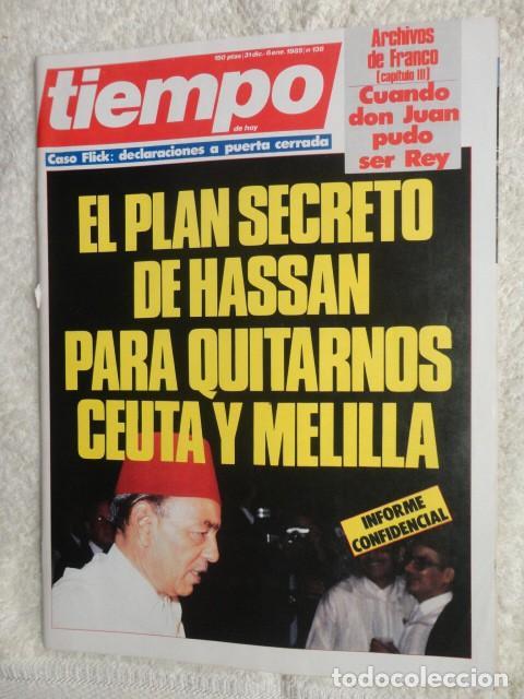 REVISTA TIEMPO Nº 138 ,1985 - HASSAN II -CASO FLICK -EL PNV -WALT DISNEY -VICTOR MANUEL - LONDRES (Coleccionismo - Revistas y Periódicos Modernos (a partir de 1.940) - Revista Tiempo)