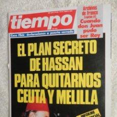 Coleccionismo de Revista Tiempo: REVISTA TIEMPO Nº 138 ,1985 - HASSAN II -CASO FLICK -EL PNV -WALT DISNEY -VICTOR MANUEL - LONDRES. Lote 67139141
