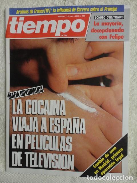 REVISTA TIEMPO Nº 139 ,1985 -PSOE -COCAINA -ETA -OLP -BETTINO CRAXI -PABLO PORTA - CAMBIO DE SEXO (Coleccionismo - Revistas y Periódicos Modernos (a partir de 1.940) - Revista Tiempo)