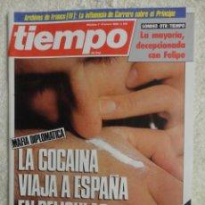 Coleccionismo de Revista Tiempo: REVISTA TIEMPO Nº 139 ,1985 -PSOE -COCAINA -ETA -OLP -BETTINO CRAXI -PABLO PORTA - CAMBIO DE SEXO. Lote 67146893