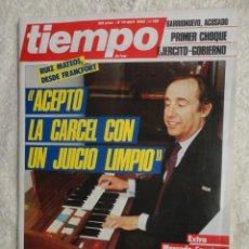 Coleccionismo de Revista Tiempo: REVISTA TIEMPO Nº 152 ,1985 -RUIZ MATEOS -FERNANDO MORAN -MERCADO COMUN -BEIRUT -EL VATICANO. Lote 67161729