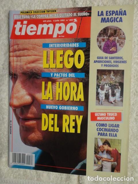 REVISTA TIEMPO Nº 583 ,1993 -LA HORA DEL REY -BOSNIA -ESPAÑA MAGICA -MARIBEL VERDU -ISABEL PREYSLER (Coleccionismo - Revistas y Periódicos Modernos (a partir de 1.940) - Revista Tiempo)