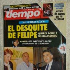 Coleccionismo de Revista Tiempo: REVISTA TIEMPO Nº 527,AÑO 1992 - DESQUITE DE FELIPE -BARRIONUEVO -PNV Y HB -UNIVERSIDADES -LA MAFIA. Lote 67211049