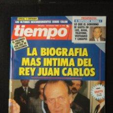 Coleccionismo de Revista Tiempo: REVISTA TIEMPO Nº 545 AÑO 1992 -BIOGRAFIA REY ESPAÑA -V CENTENARIO -GARZON -SOLCHAGA - M.SOLANS. Lote 67315377
