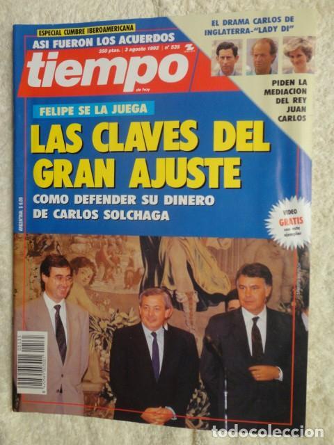 REVISTA TIEMPO Nº 535 AÑO 1992 -LAS CLAVES DEL GRAN AJUSTE -FIDEL CASTRO -SIDA -TITA CERVERA -BOTIN (Coleccionismo - Revistas y Periódicos Modernos (a partir de 1.940) - Revista Tiempo)