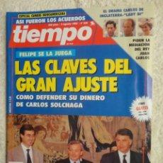 Coleccionismo de Revista Tiempo: REVISTA TIEMPO Nº 535 AÑO 1992 -LAS CLAVES DEL GRAN AJUSTE -FIDEL CASTRO -SIDA -TITA CERVERA -BOTIN. Lote 67329897
