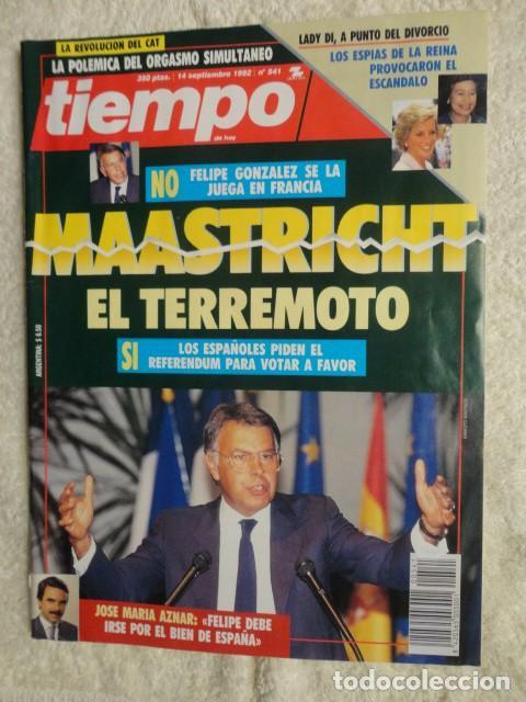 REVISTA TIEMPO Nº 541 AÑO 1992 -MAASTRICHT -AZNAR -PNV -PENELOPE CRUZ -JOAN MANUEL SERRAT-SATELITES (Coleccionismo - Revistas y Periódicos Modernos (a partir de 1.940) - Revista Tiempo)