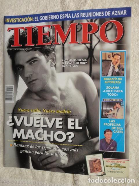 REVISTA TIEMPO Nº 710 ,1995 -BANDERAS,EL MACHO -EL GOBIERNO ESPIA A AZNAR - SOLANA -TERENCI MOIX (Coleccionismo - Revistas y Periódicos Modernos (a partir de 1.940) - Revista Tiempo)