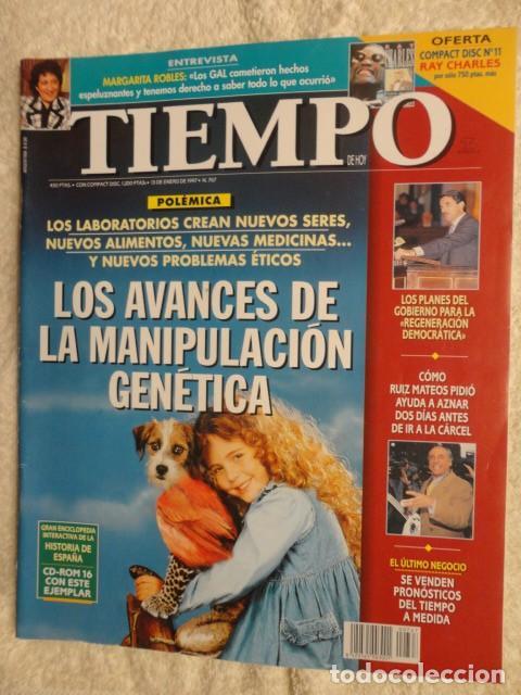 REVISTA TIEMPO Nº 767 ,1997 - PLANES GOBIERNO -EL PARO -FIDEL-AZNAR -YELTSIN -INDURAIN -CABALLE (Coleccionismo - Revistas y Periódicos Modernos (a partir de 1.940) - Revista Tiempo)