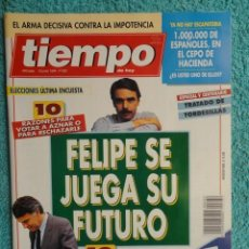 Coleccionismo de Revista Tiempo: REVISTA TIEMPO Nº 632 AÑO 1994 -FELIPE SE JUEGA SU FUTURO- FERNANDO MORAN - CULTURA DEL PELOTAZO. Lote 69945237