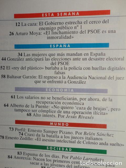 Coleccionismo de Revista Tiempo: REVISTA TIEMPO Nº 630 AÑO 1994 - CASO ROLDAN - GARZON -CRAXI -BOFILL- A. FLORES -JACKIE KENNEDY - Foto 2 - 69955665