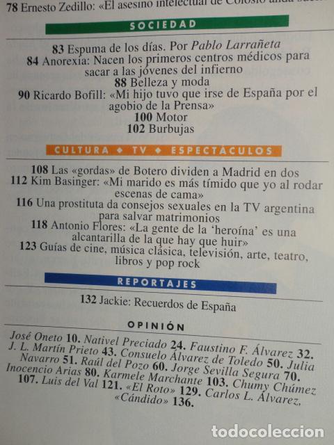 Coleccionismo de Revista Tiempo: REVISTA TIEMPO Nº 630 AÑO 1994 - CASO ROLDAN - GARZON -CRAXI -BOFILL- A. FLORES -JACKIE KENNEDY - Foto 3 - 69955665