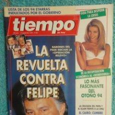 Coleccionismo de Revista Tiempo: REVISTA TIEMPO Nº 645 ,AÑO 1994 ,LA REVUELTA CONTRA FELIPE -EL PAPA EN EGIPTO -REDES TERRORISMO. Lote 69965229
