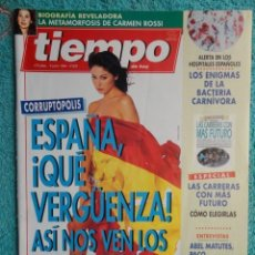 Coleccionismo de Revista Tiempo: REVISTA TIEMPO Nº 631 ,AÑO 1994 , LA CORRUPCION EN ESPAÑA -BANQUEROS -ERNESTO SAMPER -ABEL MATUTES. Lote 69967597