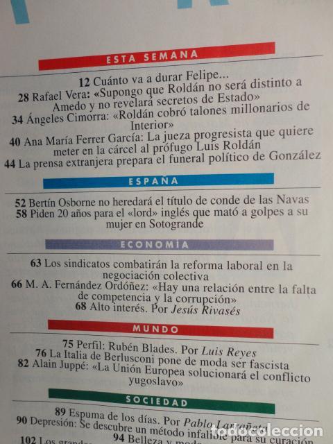 Coleccionismo de Revista Tiempo: REVISTA TIEMPO Nº 628 AÑO 1994 - 1º DE MAYO -DERRUMBE DE FELIPE -BERLUSCONI , MANDELA - TERENCI MOIX - Foto 2 - 69974301
