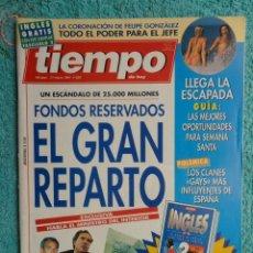 Coleccionismo de Revista Tiempo: REVISTA TIEMPO Nº 620 AÑO 1994 -FONDOS RESERVADOS -ROLDAN -CELA -MARTIRIO- ANTONIO BANDERAS. Lote 69974997