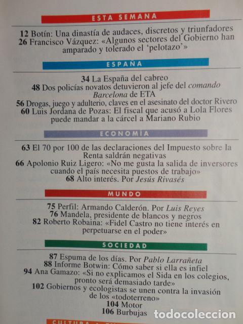 Coleccionismo de Revista Tiempo: REVISTA TIEMPO Nº 627 AÑO 1994 -LA ESPAÑA DEL CABREO -MANDELA,PRESIDENTE - DINASTIA , BOTIN - Foto 2 - 69975421