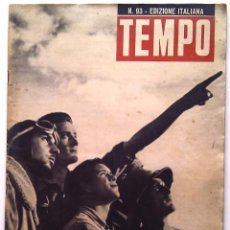 Coleccionismo de Revista Tiempo: REVISTA TEMPO Nº 93. 6 - 13 DE MARZO 1941 EDICIÓN ITALIANA. Lote 71946323