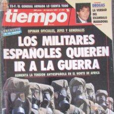 Coleccionismo de Revista Tiempo: REVISTA TIEMPO 460 1991 MARADONA. TED DANSON, MARISA PAREDES, PEDRO PIQUERAS, TERENCI MOIX.. Lote 75742027